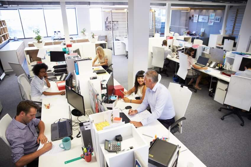 People Working In A Busy Office