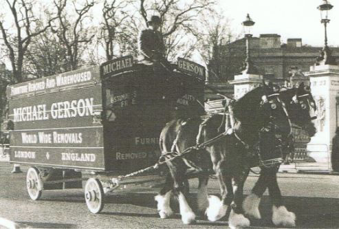 Black And White Picture Of A Gerson Removals Horse And Cart