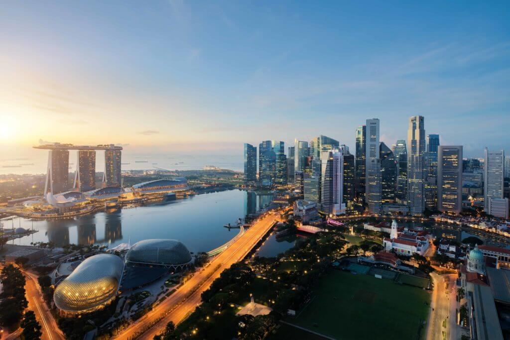Airial View Of Singapore