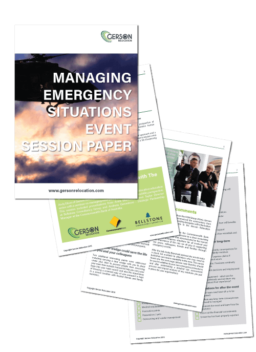 Managing Emergency Situations - Gerson Relocation