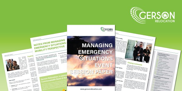 Managing Emergency Situations Event Session Paper