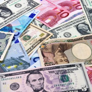 US dollars,Euro,Yen