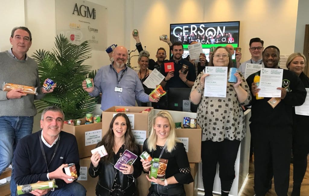 Our staff getting involved by collecting for Trussell Trust food bank