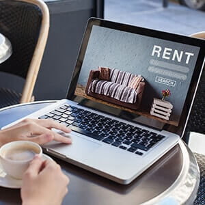Laptop with rent image