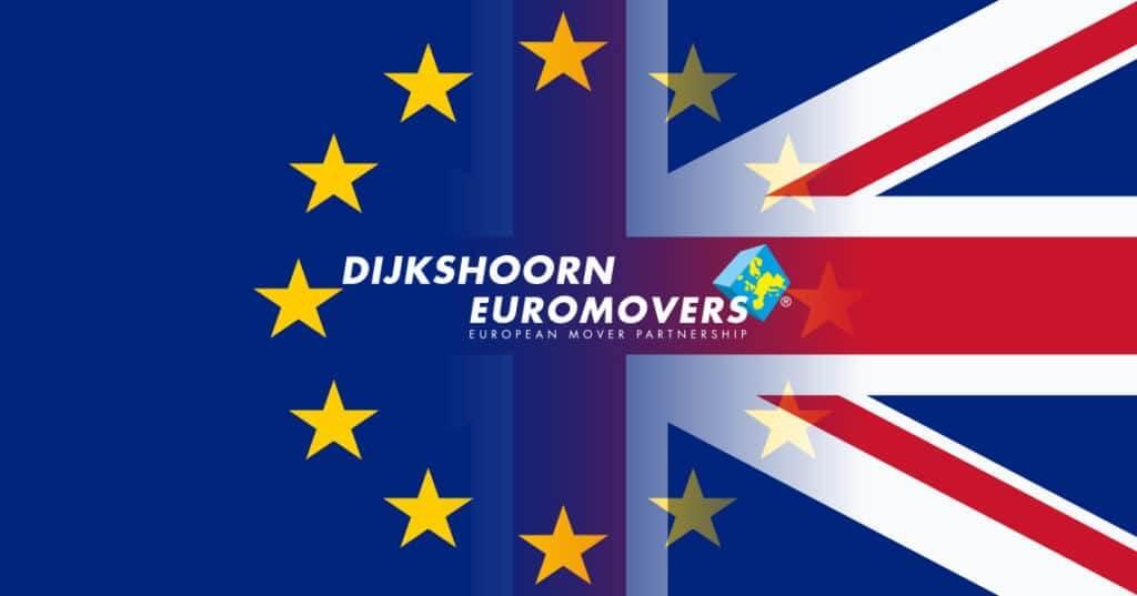 Eu And Great British Flag Blend Together