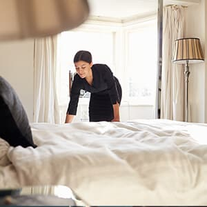 Serviced accommodation search and booking