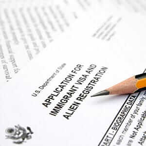 Visa and immigration application