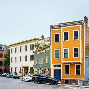 Charlestown, a historic neighbourhood of Boston, USA