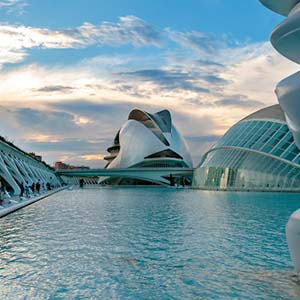 an image of City of Arts and Science institution in Valencia Spain