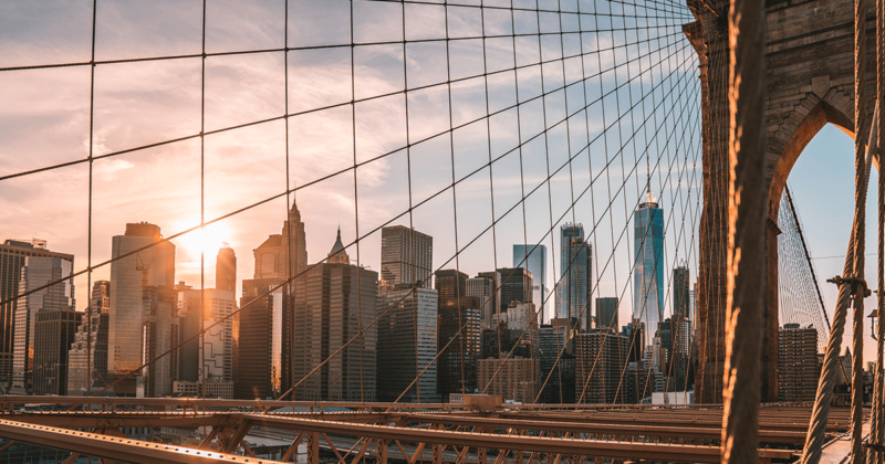 View From Brooklyn Bridge, USA